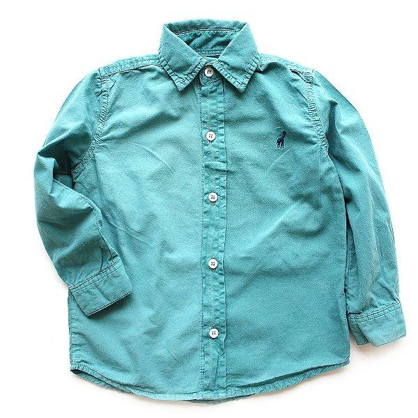Camisa de Botão Toffee Verde Mar
