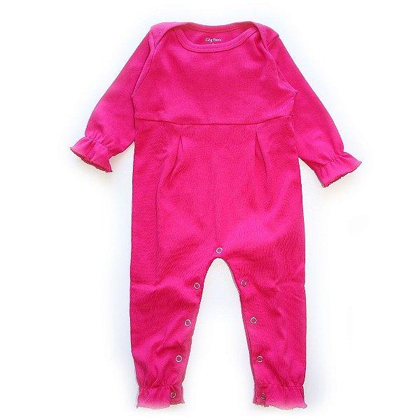 Macacão Frufru Love Pink