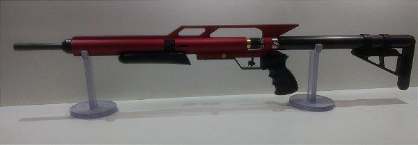 Carabina PCP Custon PO8860/A 5.5mm Vermelha Alto Fluxo
