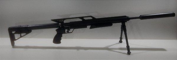 Carabina PCP Custon PO8860/A 5.5mm Preta + Bipe + Supressor