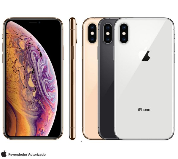 "iPhone XS com Tela de 5,8"", 4G, 64GB 256GB ou 512GB e Câmera de 12 MP - Apple"