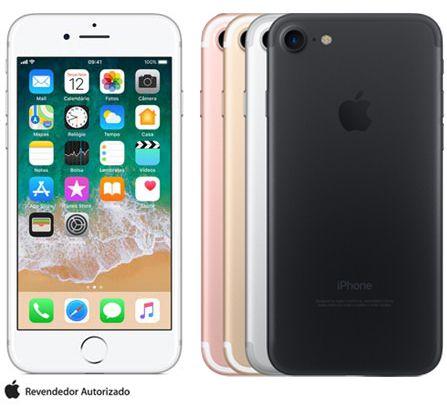 """iPhone 7 com Tela de 4,7"""", 4G, 32 GB ou 128 GB e Câmera de 12 MP - A1778"""