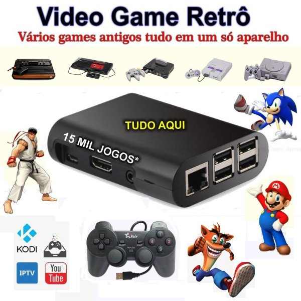 Vídeo Game Retro Arcade Raspberry Pi3 com Recalbox