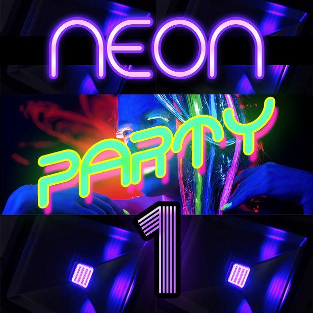 Neon Party 1 - Kit de Luz Negra (Aluguel 24h)