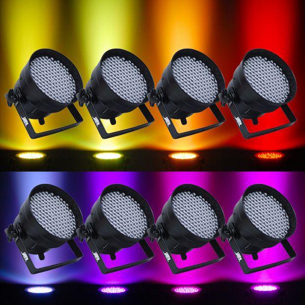 Kit 8 x Refletores de LED para Decoração (Aluguel 24h)