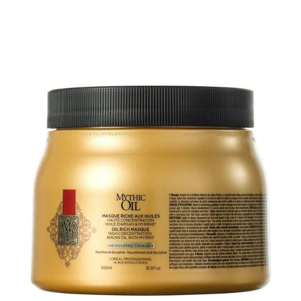 Máscara de Tratamento Mythic Oil - L'Oréal - 500ml