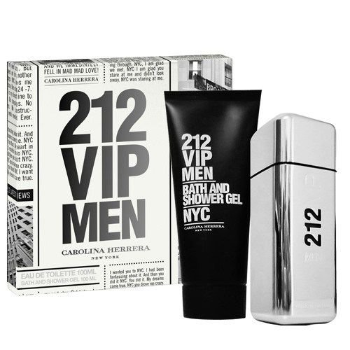 Kit Perfume 212 Vip EDT Masculino 100ml + After shave - Carolina Herrera