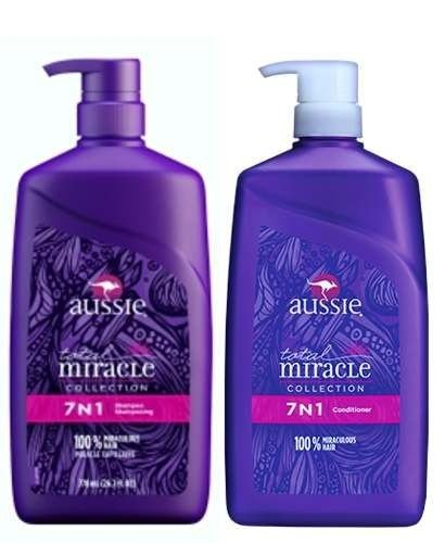 Aussie 7 em 1 Shampoo e Condicionador Total Miracle - 778ml