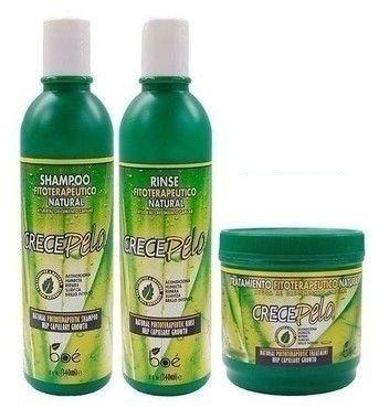 Boé Crece Pelo Kit Shampoo + Condic. + Mascara - 240g