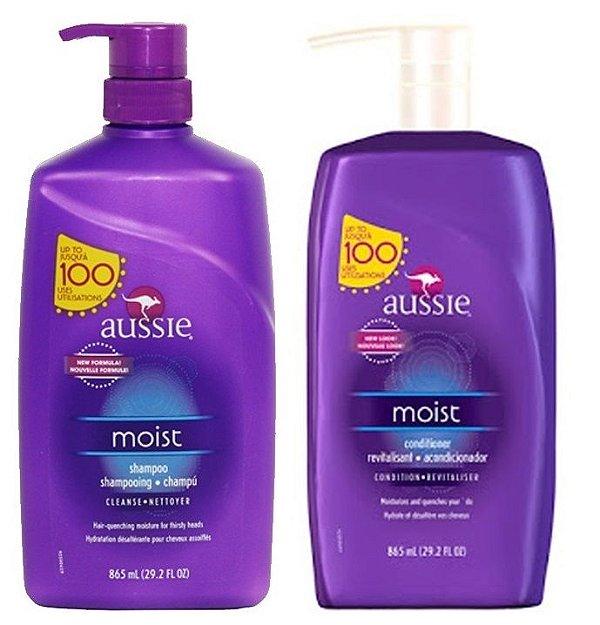 Kit Aussie Moist Shampoo + Condicionador - 865ml