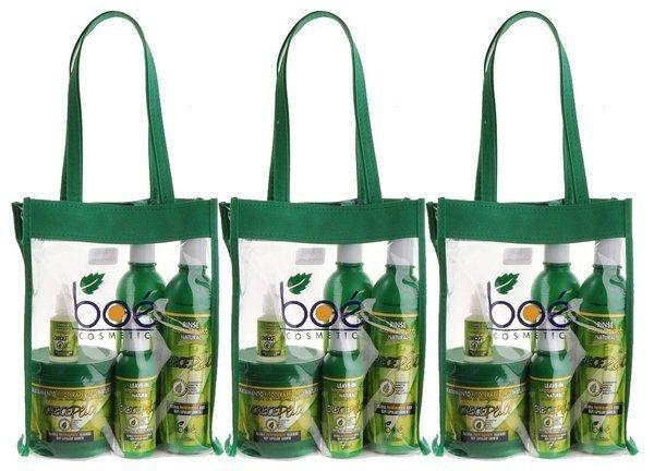 Boé Crece Pelo 3 Kits Completos com 5 produtos cada