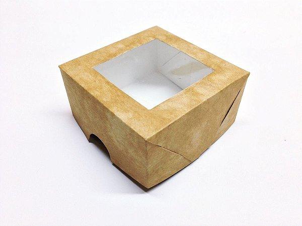 Caixa Com Visor 7x7x3,5 Kraft