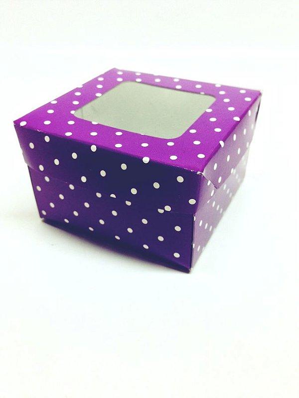 Caixa com Visor 6,5x6,5x4