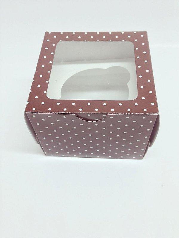Caixa para Cupcake com visor
