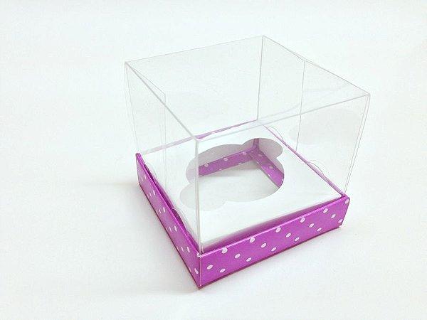Caixa para Mini Cupcake com Tampa de Acetato