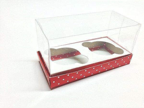 Caixa para 2 Mini Cupcakes com Tampa de Acetato