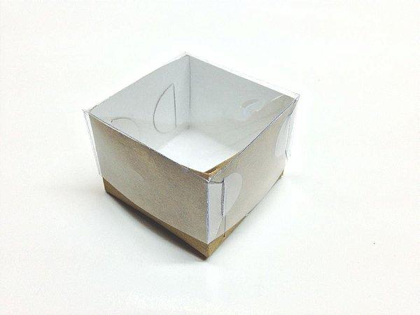 Caixa com Tampa de Acetato 6x6x4,5 Kraft