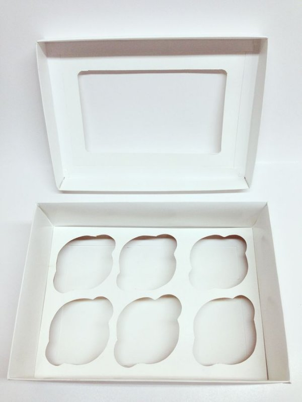 Caixa Transporte 6 Cupcake Branca