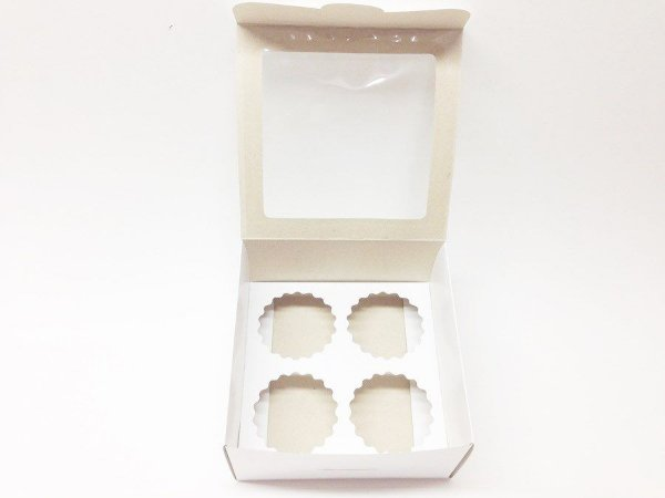 Caixa para 4 cupcake