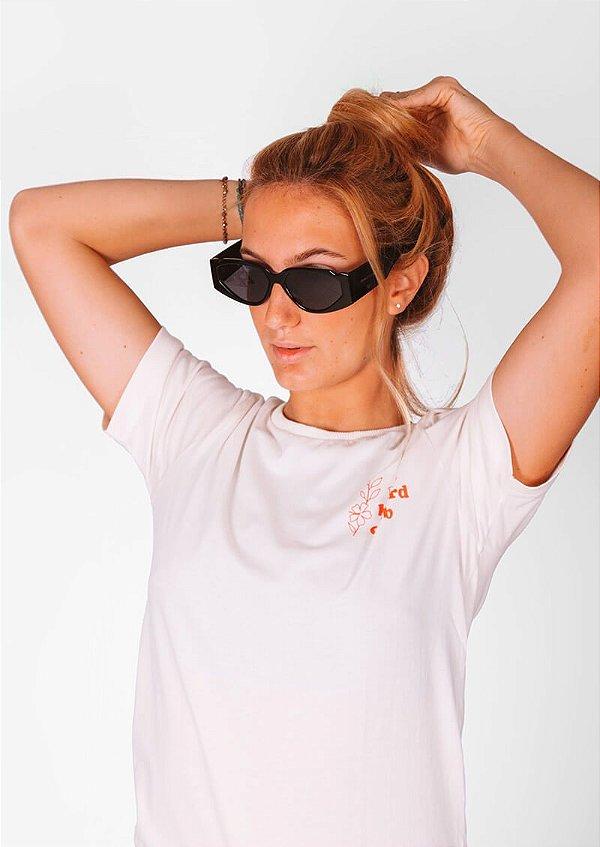 Óculos de sol loveboard retrô geometrico preto