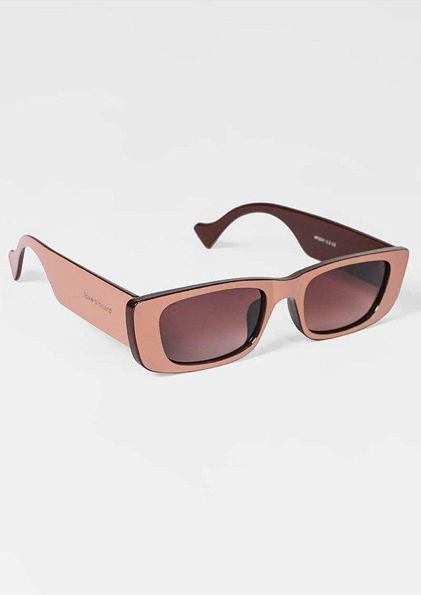 Óculos de sol loveboard retangular bege