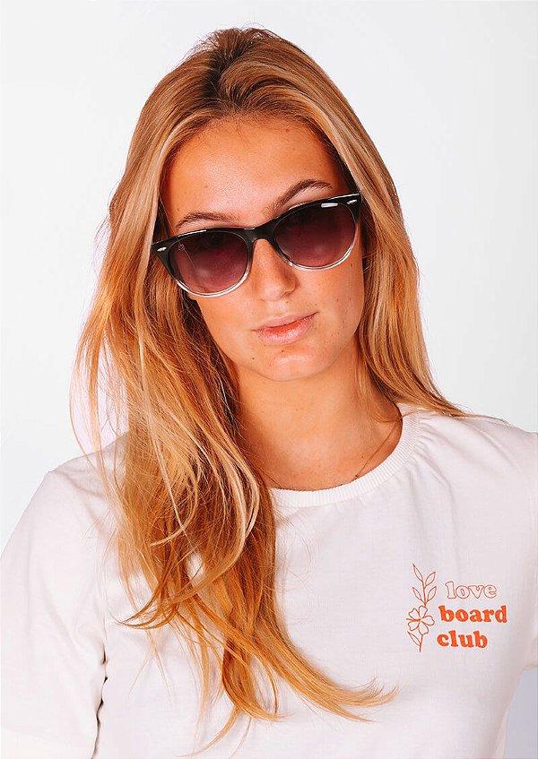 Óculos de sol loveboard casual gatinho degradê