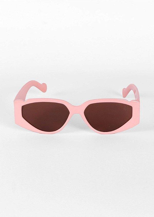 Óculos de sol loveboard retrô geometrico rosa