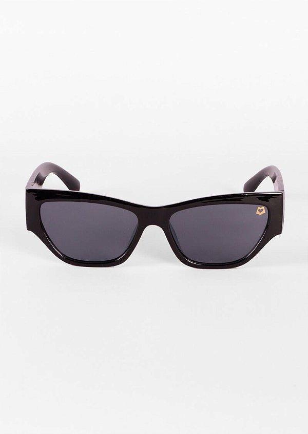 Óculos de sol gatinho moderno preto
