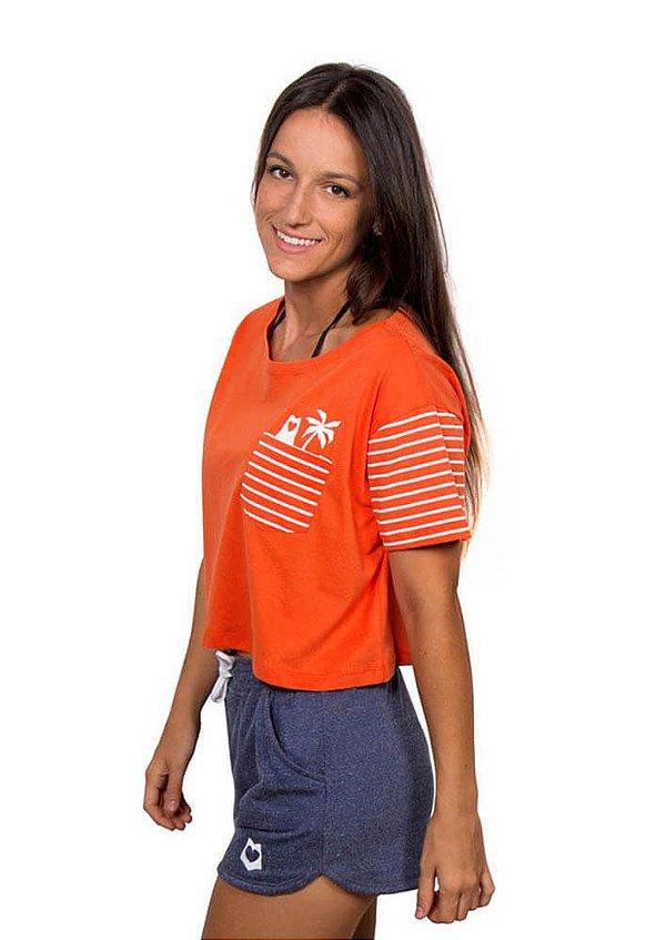 Blusa cropped laranja sunshine