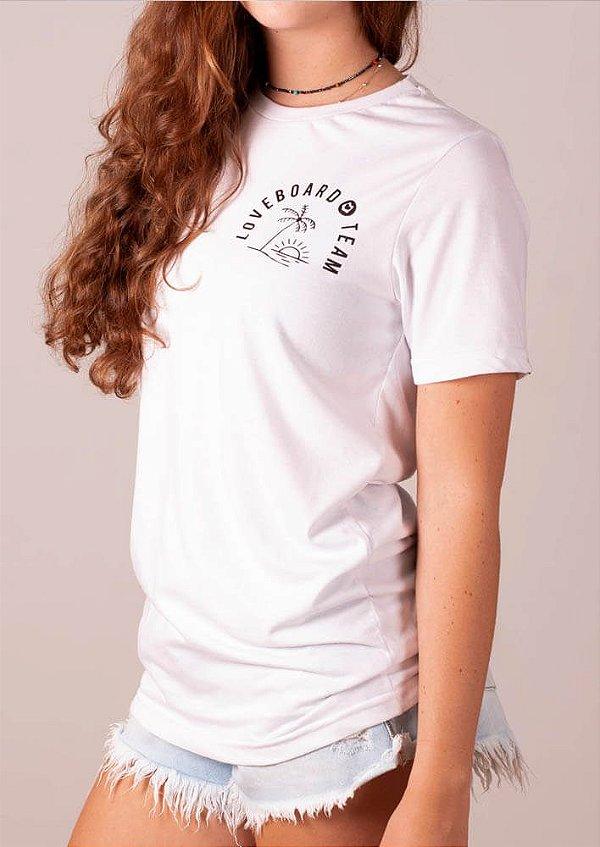 Camisetão branco ecológico loveboard team