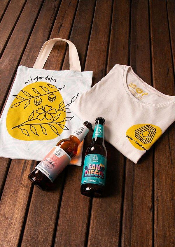 Kit collab No lugar delas   Loveboard + Cervejas Barco