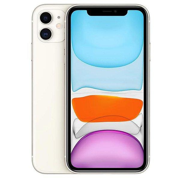iPhone 11 Branco 64GB Novo, Desbloqueado com 1 Ano de Garantia - SYN4MV3ND