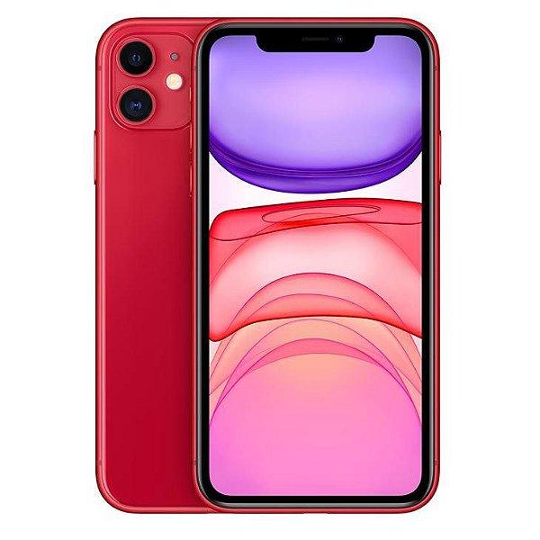 iPhone 11 Vermelho 64GB Novo, Desbloqueado com 1 Ano de Garantia - ZRSMU9RR4