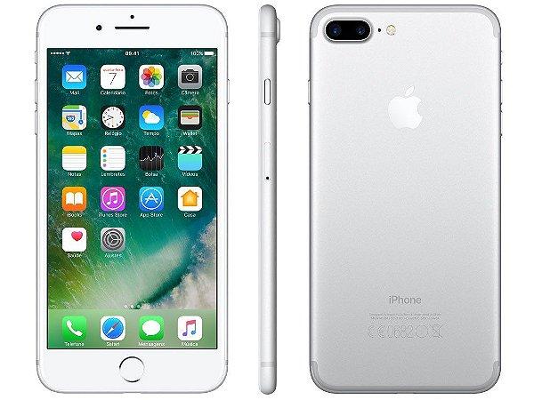 iPhone 7 Plus Prata 128GB Novo, Desbloqueado com 1 Ano de Garantia - QRZXH2X2K
