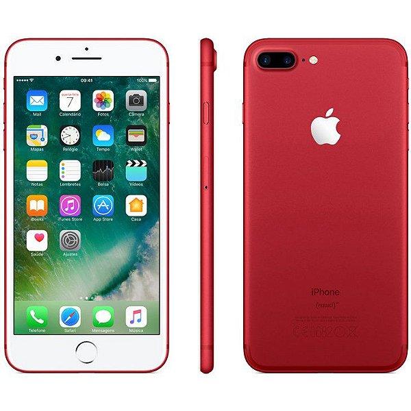 iPhone 7 Plus Vermelho 256GB Novo, Desbloqueado com 1 Ano de Garantia - 9WNVCXUWT