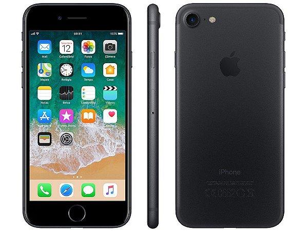 iPhone 7 Preto Fosco 128GB Novo, Desbloqueado com 1 Ano de Garantia - XWK68D6YT
