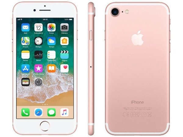 iPhone 7 Rose 128GB Novo, Desbloqueado com 1 Ano de Garantia - CZSGHGYRC
