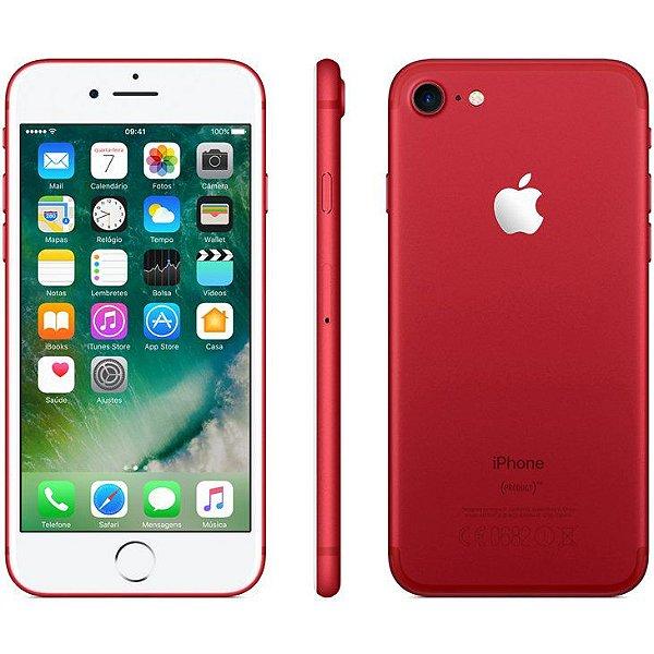 iPhone 7 Vermelho 128GB Novo, Desbloqueado com 1 Ano de Garantia - 5V65UFZN3