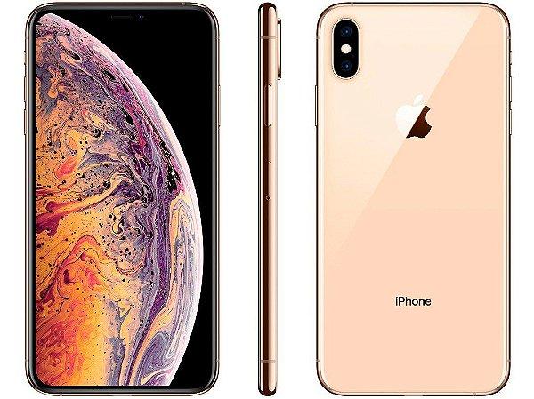 iPhone XS MAX Dourado 256GB Novo, Desbloqueado com 1 Ano de Garantia - LPXN8UJUX
