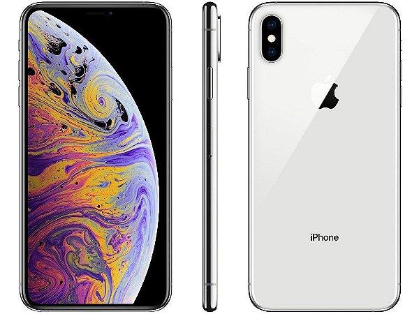iPhone XS MAX Prata 512GB Novo, Desbloqueado com 1 Ano de Garantia - QXHZMY2A5