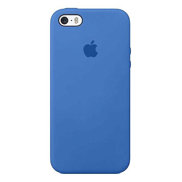 Case Capinha Azul Royal para iPhone 5/5s/5c e SE 1 GERAÇÃO de Silicone - BTJKVVPEU