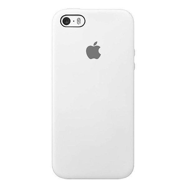 Case Capinha Branca para iPhone 5/5s/5c e SE 1 GERAÇÃO de Silicone - PMD9IWH34