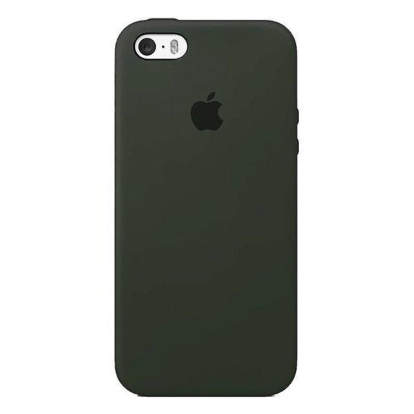 Case Capinha Cinza DARK para iPhone 5/5s/5c e SE 1 GERAÇÃO de Silicone - PTSTJO29U