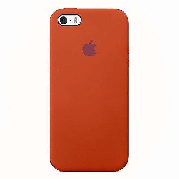 Case Capinha Laranja Neon para iPhone 5/5s/5c e SE 1 GERAÇÃO de Silicone - VDX1972PX