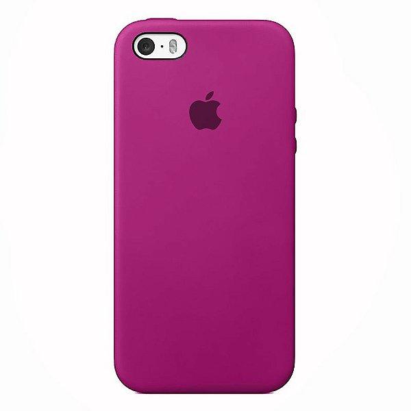 Case Capinha Rosa Hibisco para iPhone 5/5s/5c e SE 1 GERAÇÃO de Silicone - HEL2NIY36