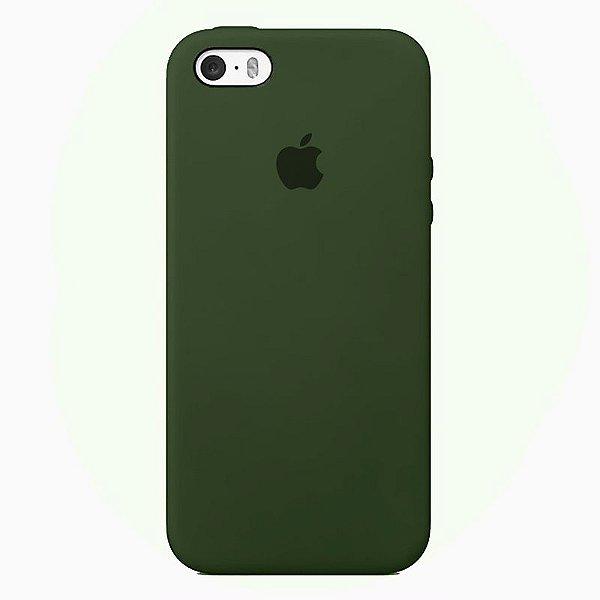 Case Capinha Verde Militar para iPhone 5/5s/5c e SE 1 GERAÇÃO de Silicone - 7FRJB93A8