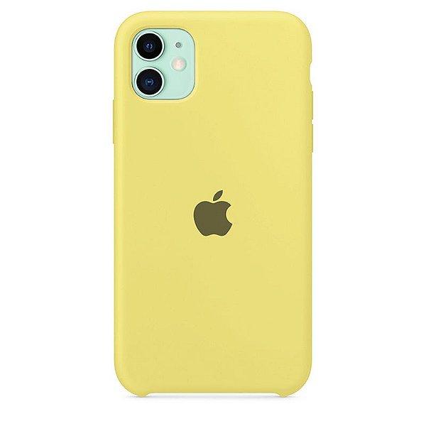 Case Capinha Amarelo Limão para iPhone 11 de Silicone - 5FQ1ON4V3