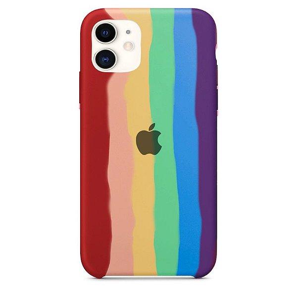 Case Capinha Pride Arco-Íris-1 para iPhone 11 de Silicone - WJMSMBS1I
