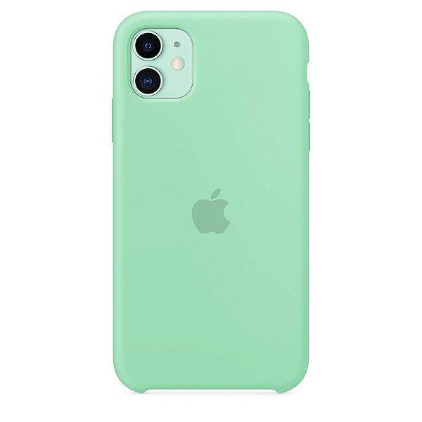 Case Capinha Azul Tiffany para iPhone 11 de Silicone - DWTLCPHJK