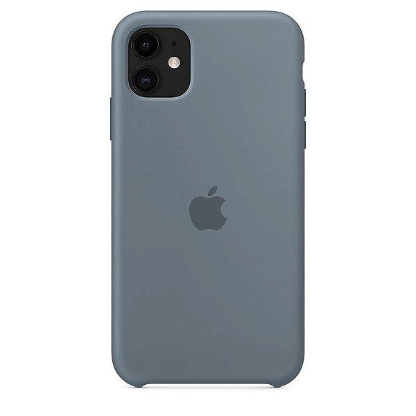 Case Capinha Cinza Azulado para iPhone 11 de Silicone - ECI93JLJ4